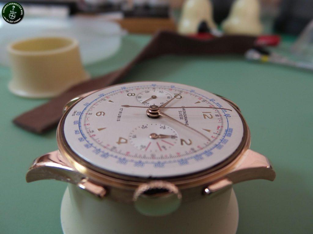 Die fertig restaurierte Uhr ohne Plexiglas