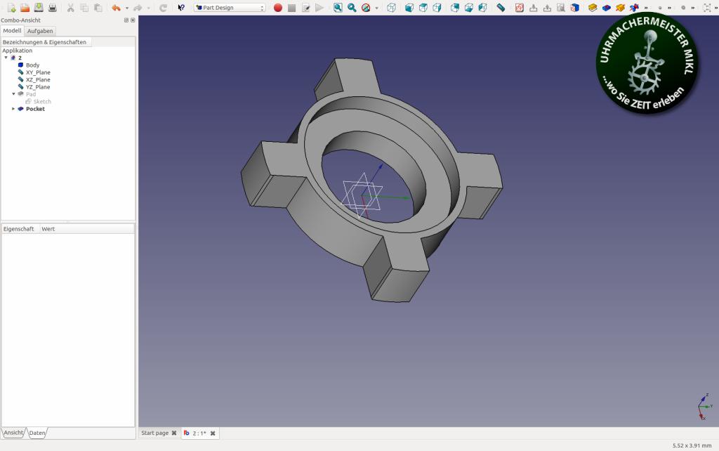 Im CAD Programm konstruiertes Rad.